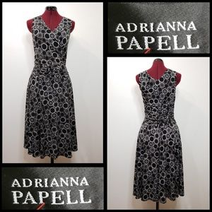 adrianna papell woman sleeveles wrap dress ruched